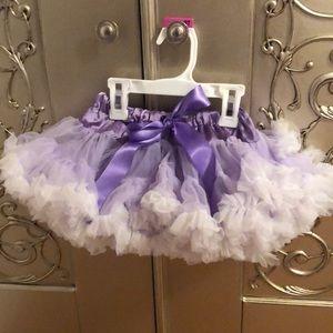 Purple/white tutu 6-12 months